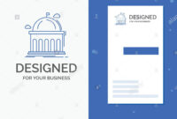 Business Logo For Library, School, Education, Learning with Library Catalog Card Template