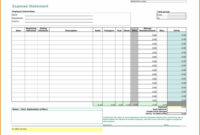 Business Monthly Expenses Spreadsheet Expense Report within Monthly Expense Report Template Excel