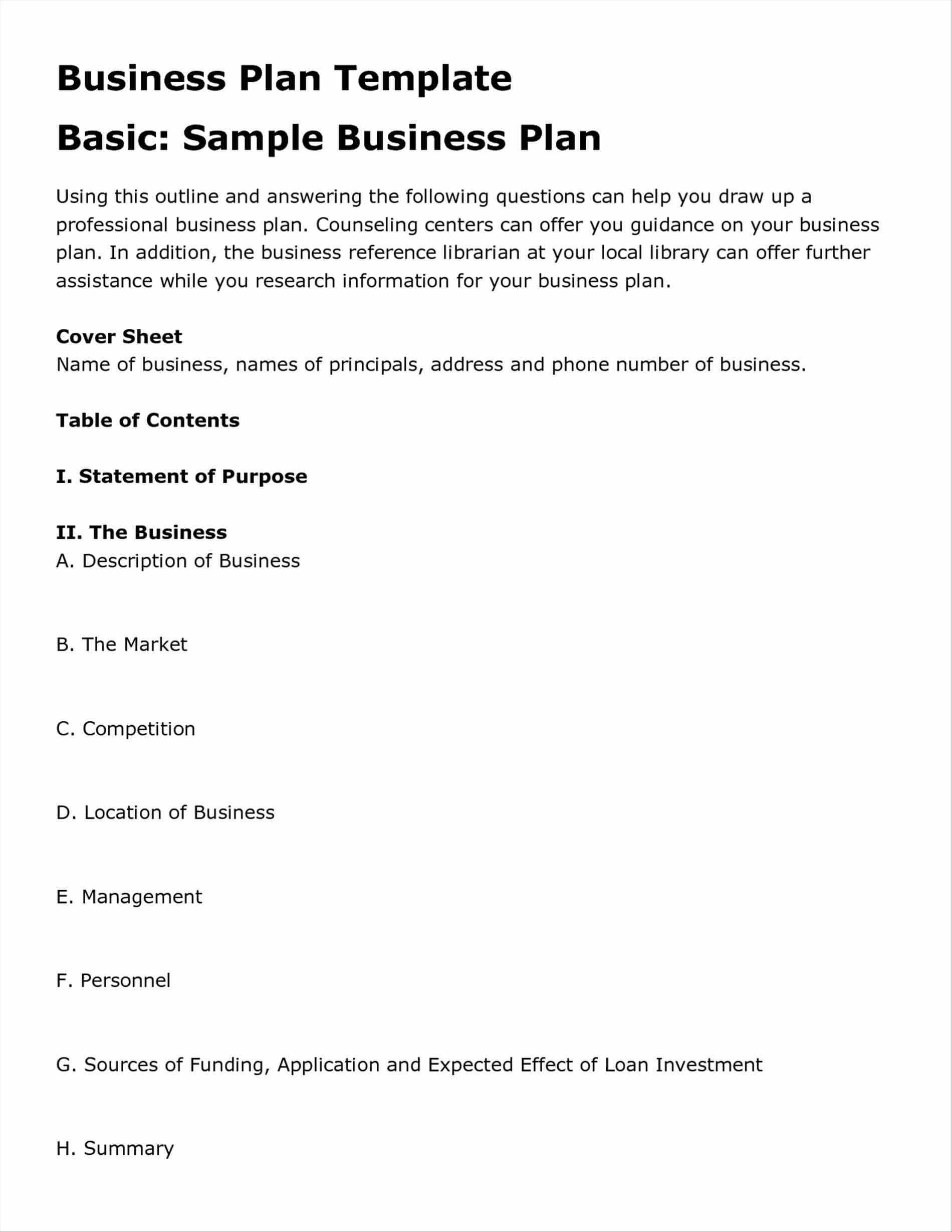 Business Plan Template Restaurant Templates In Word Excel with Business Plan Template Free Word Document