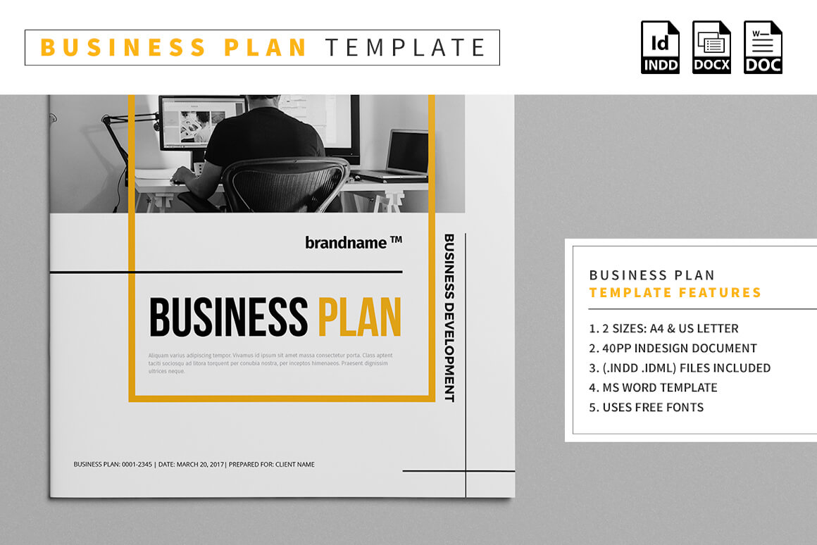 Business Plan Template - Vsual pertaining to Business Plan Template Free Word Document