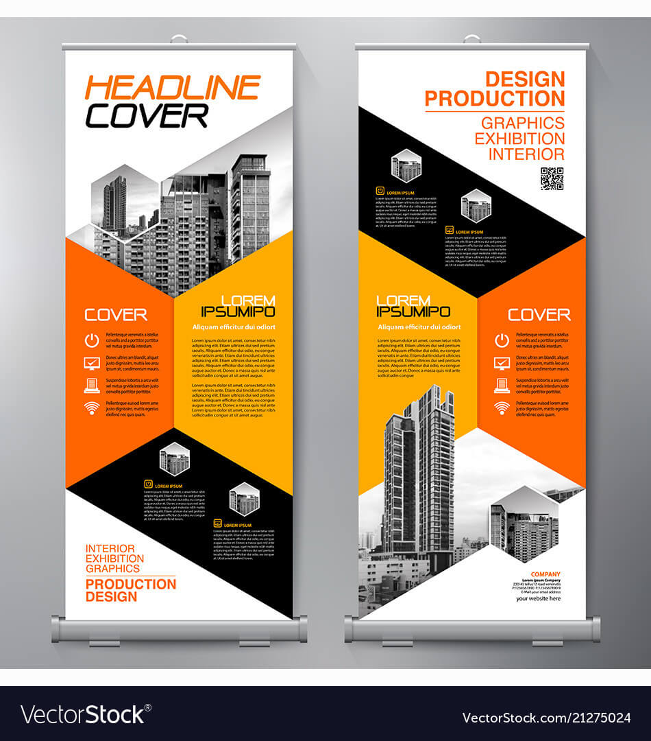 Business Roll Up Standee Design Banner Template intended for Product Banner Template