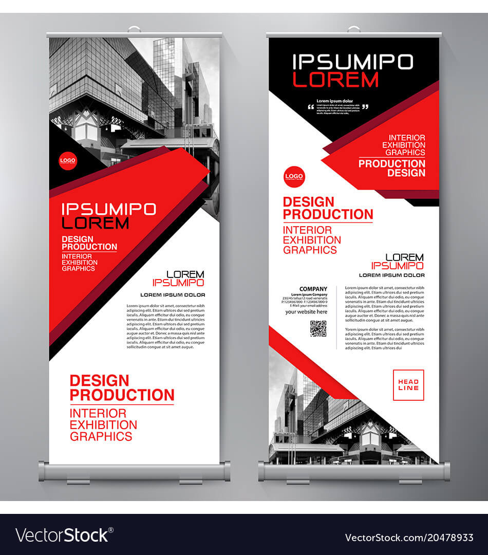 Business Roll Up Standee Design Banner Template with regard to Product Banner Template