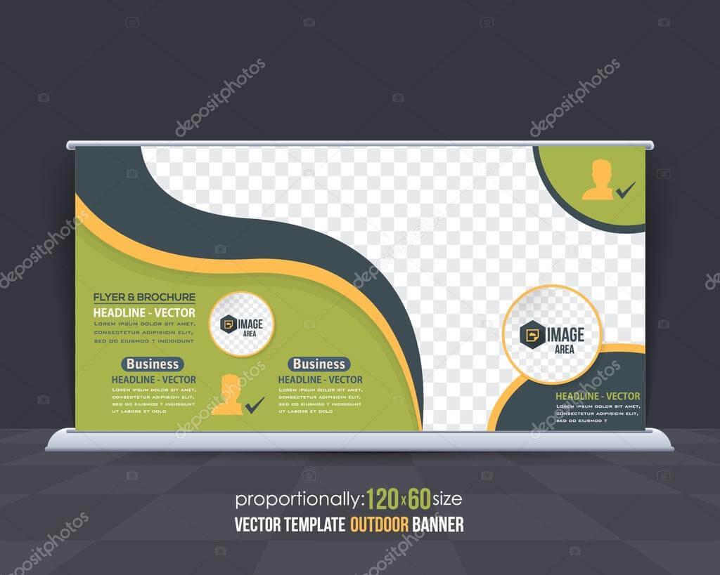 Business Theme Outdoor Banner Design, Advertising Vector pertaining to Outdoor Banner Design Templates
