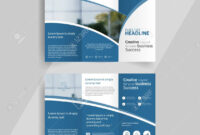 Business Tri-Fold Brochure Layout Design ,vector A4 Brochure.. with regard to Free Tri Fold Business Brochure Templates