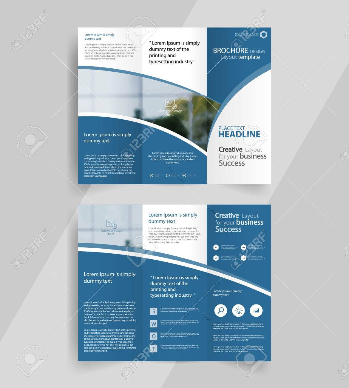 Business Tri Fold Brochure Layout Design ,vector A4 Brochure.. With Regard To Free Tri Fold Business Brochure Templates