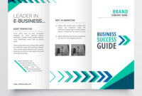 Business Tri Fold Brochure Template Design With for 3 Fold Brochure Template Free Download