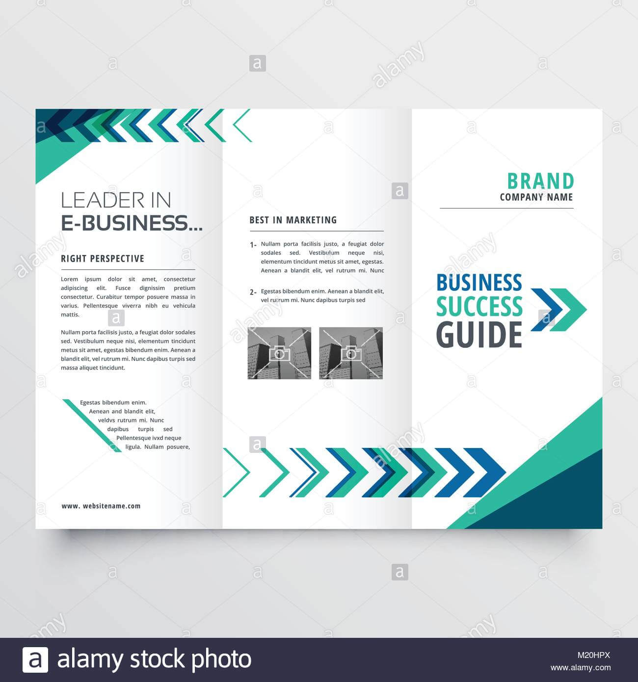 Business Tri Fold Brochure Template Design With Geometric Intended For Tri Fold Brochure Template Illustrator