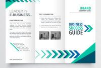 Business Tri Fold Brochure Template Design With pertaining to 2 Fold Brochure Template Free