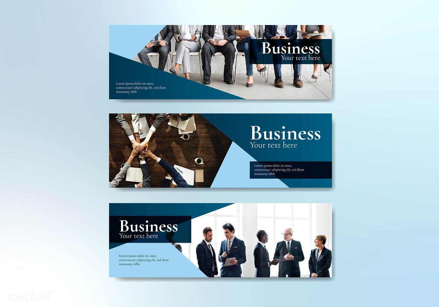 Business Website Banner Design Vector   Free Image With Photography Banner Template