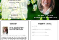 Butterfly Memorial Program | Funeral Program Template Free with regard to Memorial Brochure Template