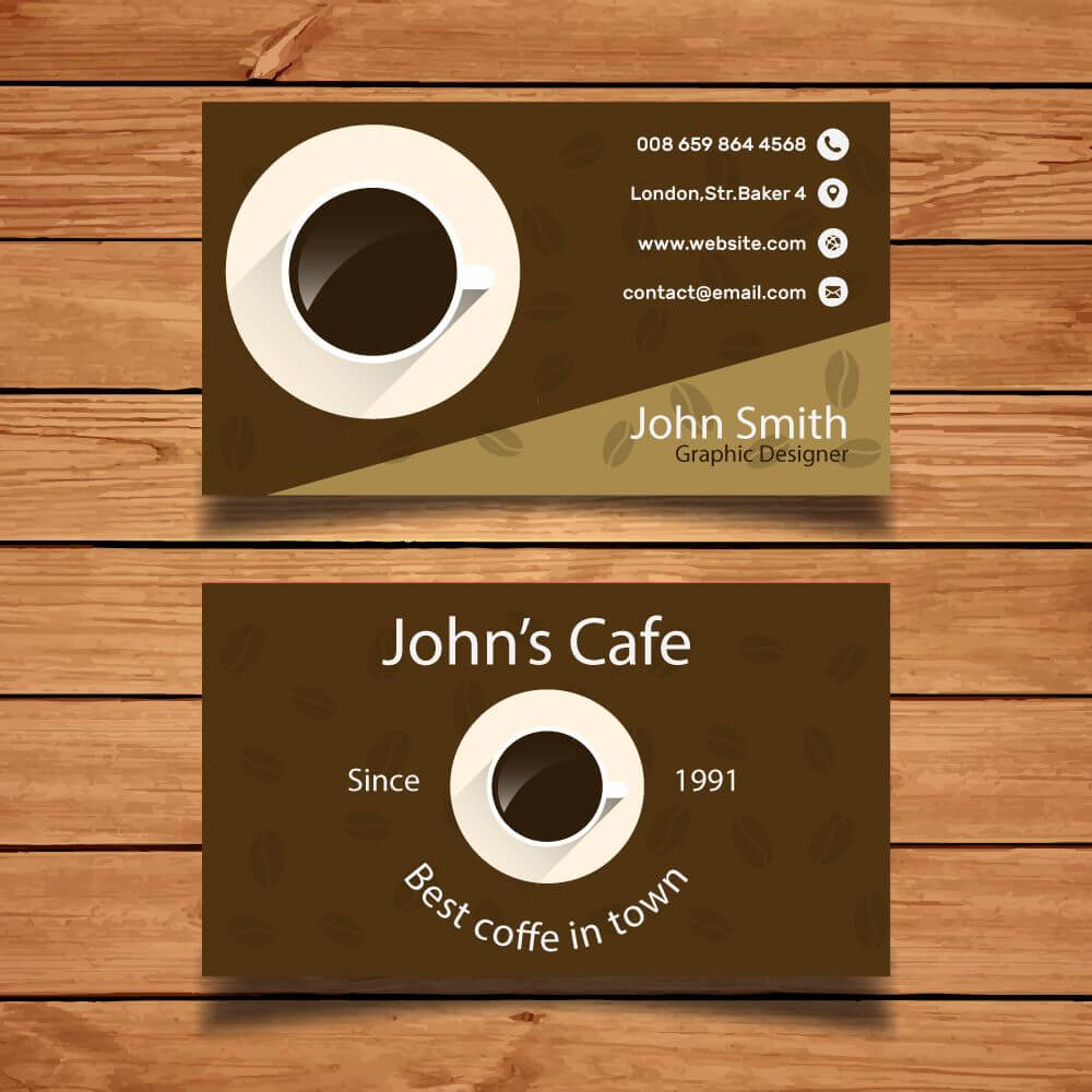 Byteknight Designs | Cafe/ Coffee Shop Business Card Design for Coffee Business Card Template Free