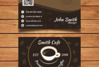 Byteknight Designs | Cafe/ Coffee Shop Visiting Card Design with Coffee Business Card Template Free