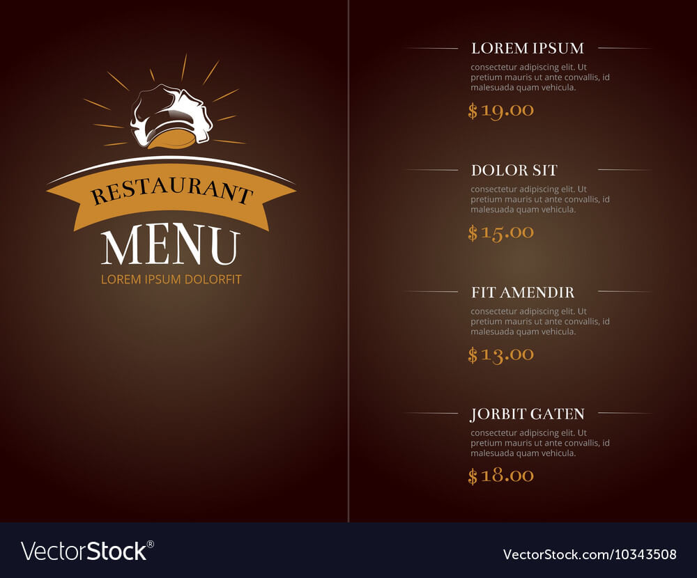 Cafe Restaurant Menu Template Identity for Frequent Diner Card Template