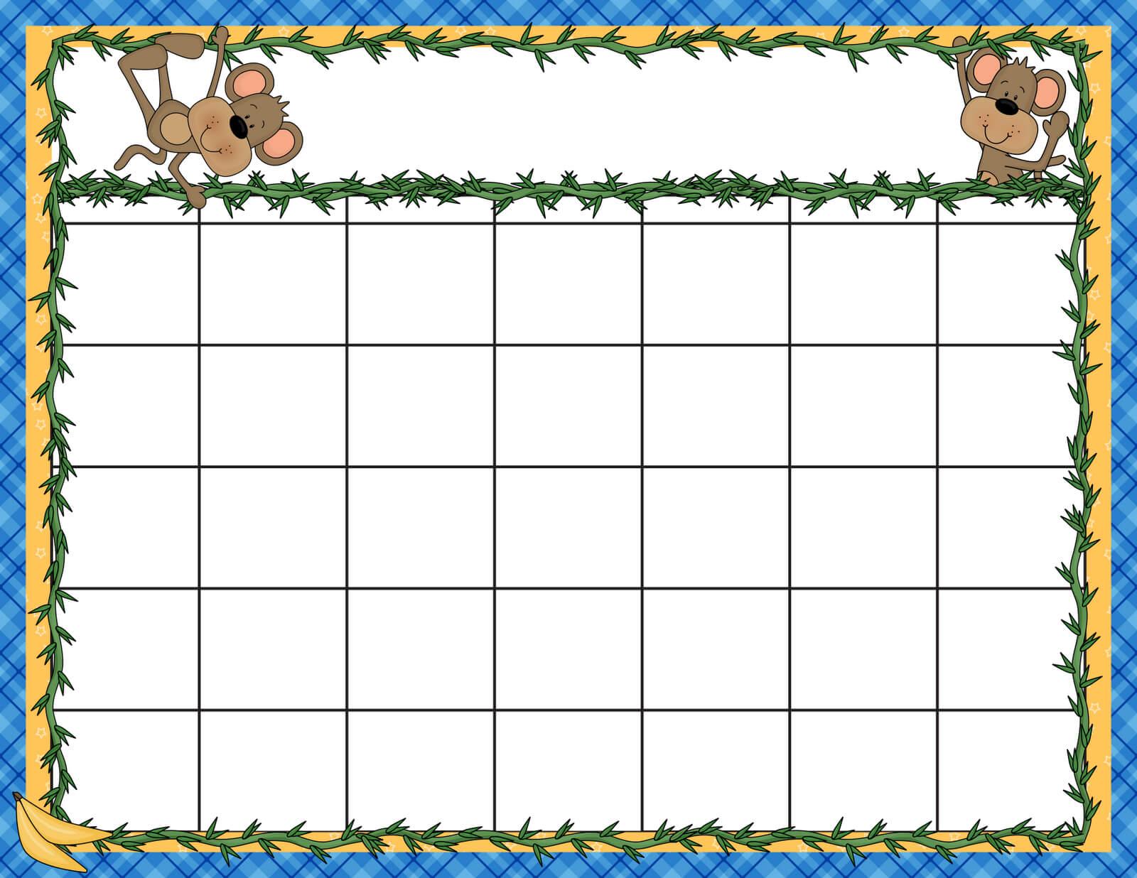 Calendar Template Kids Best 25 Kids Calendar Ideas On throughout Blank Calendar Template For Kids
