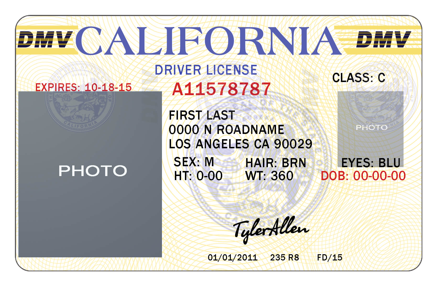 California Drivers License Template | California In 2019 for Fake Social Security Card Template Download