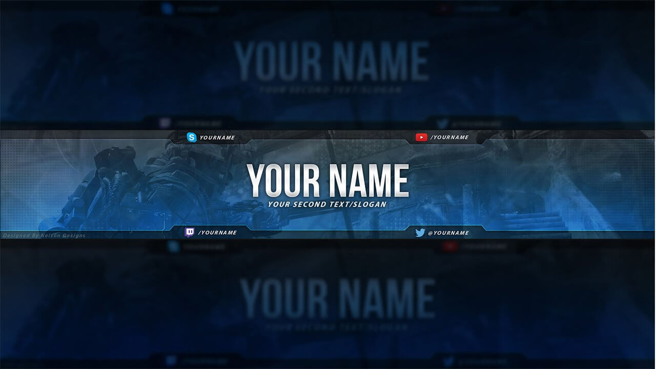 Call Of Duty Youtube Banner Template – Free Download (Psd) With Youtube Banners Template