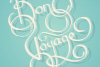 Calligraphy Bon Voyage Text – Download Free Vectors, Clipart in Bon Voyage Card Template