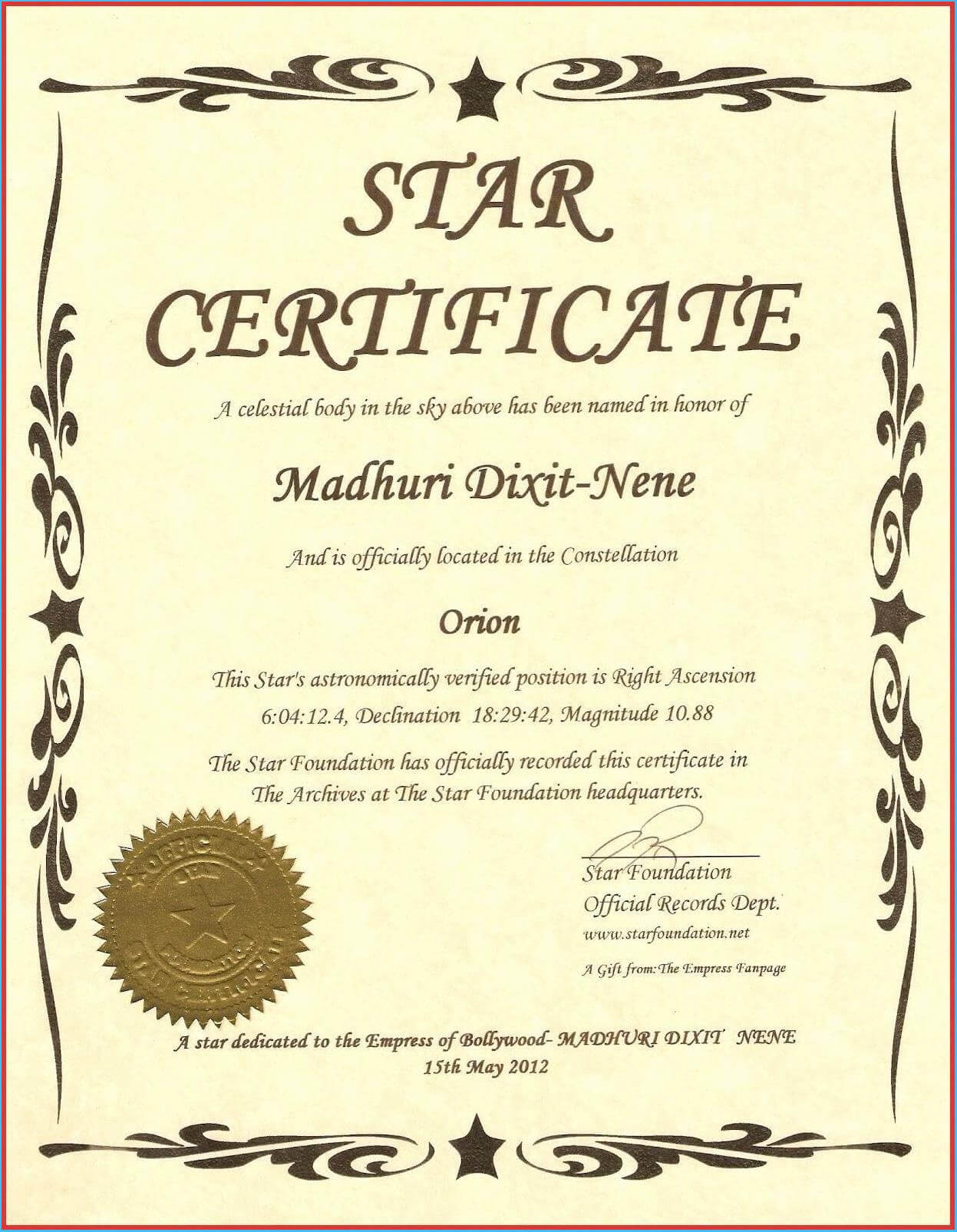 Captivating Star Naming Certificate Template To Make Free Pertaining To Star Naming Certificate Template