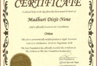 Captivating Star Naming Certificate Template To Make Free within Star Certificate Templates Free