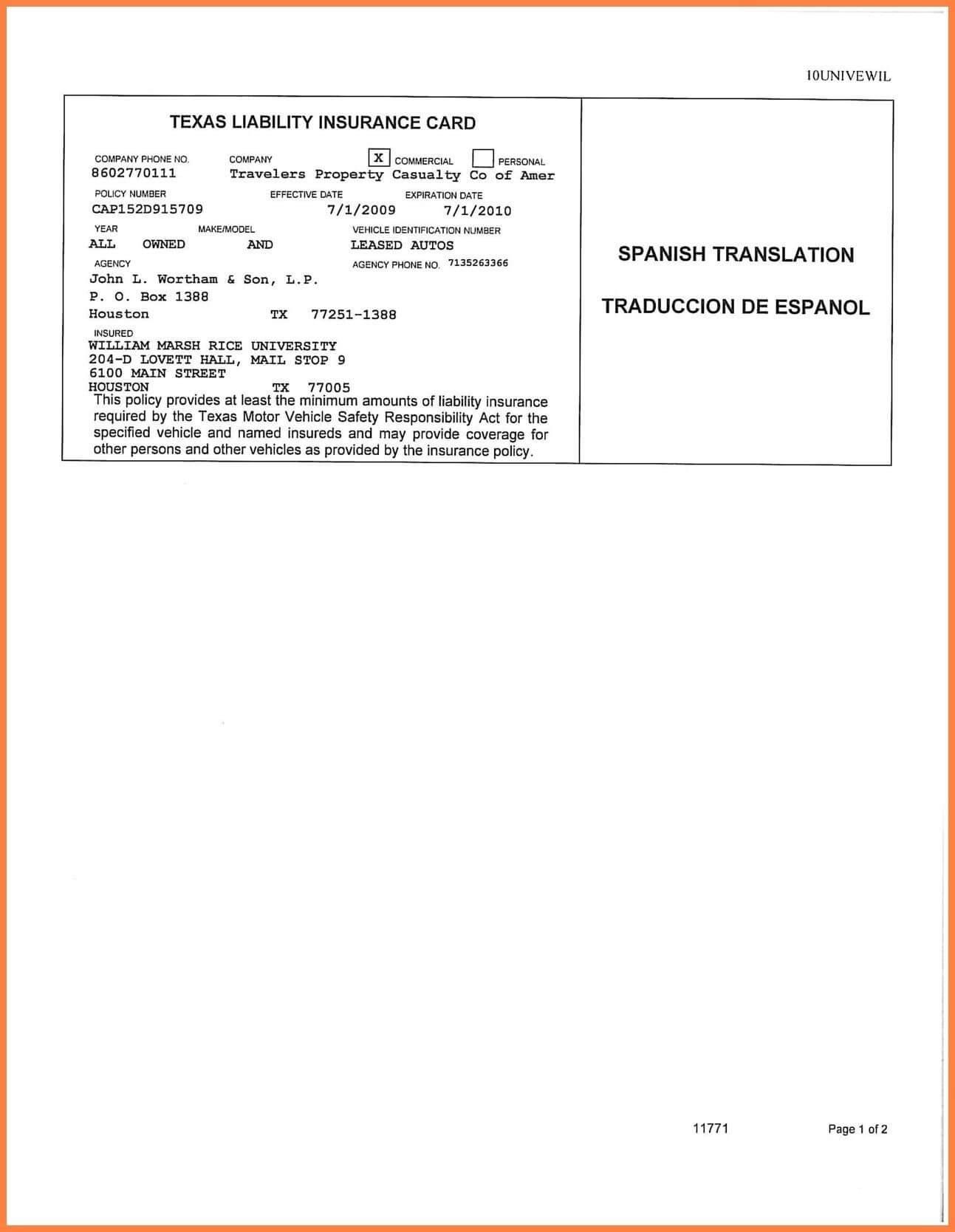 Car Insurance Card Template Free Auto Insurance Card With Fake Auto Insurance Card Template Download