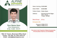 Card Template Archives – Atlantaauctionco within Employee Card Template Word