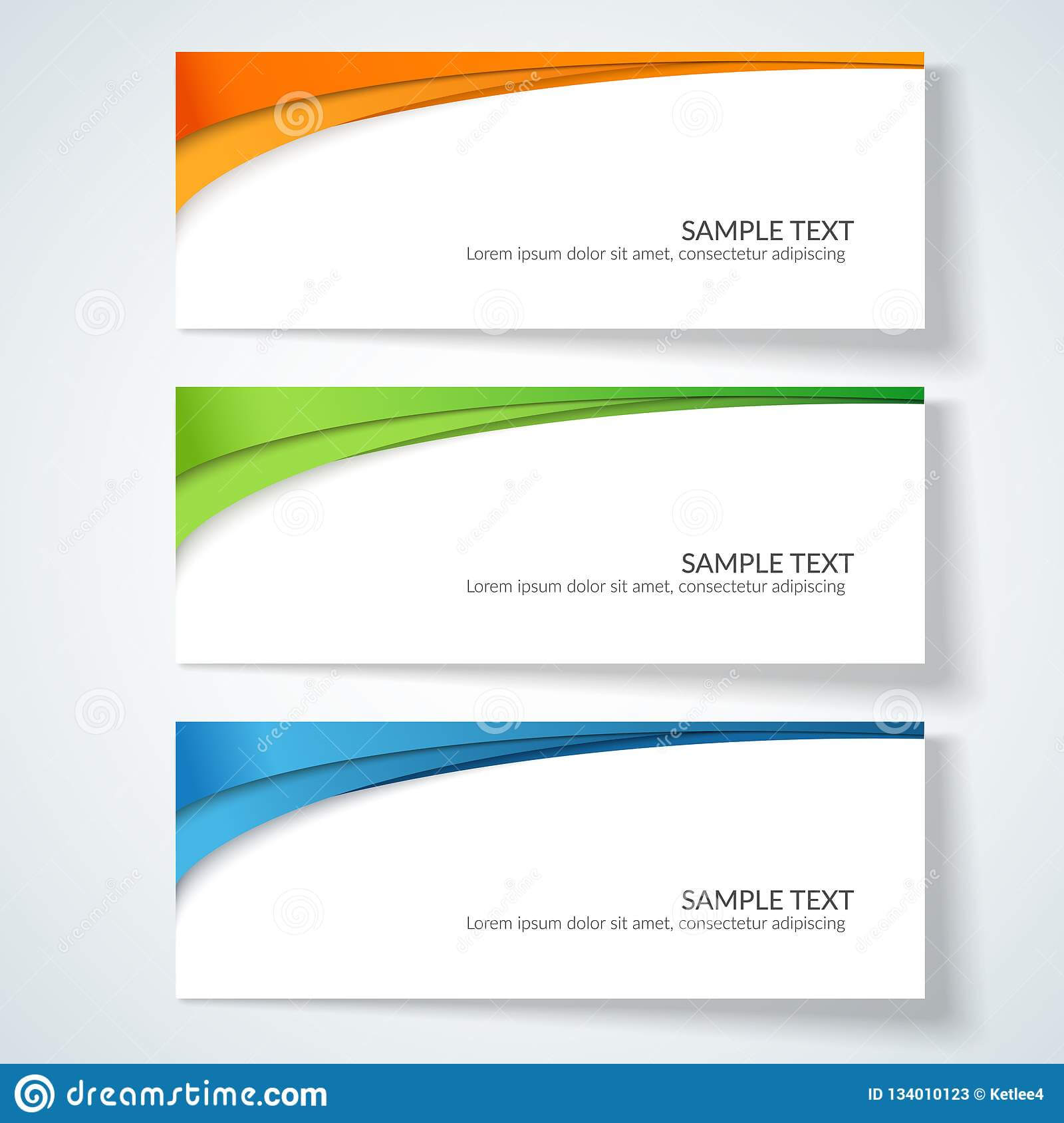 Card With Abstract Wavy Lines Orange Blue Green Stripes Within Advertising Card Template
