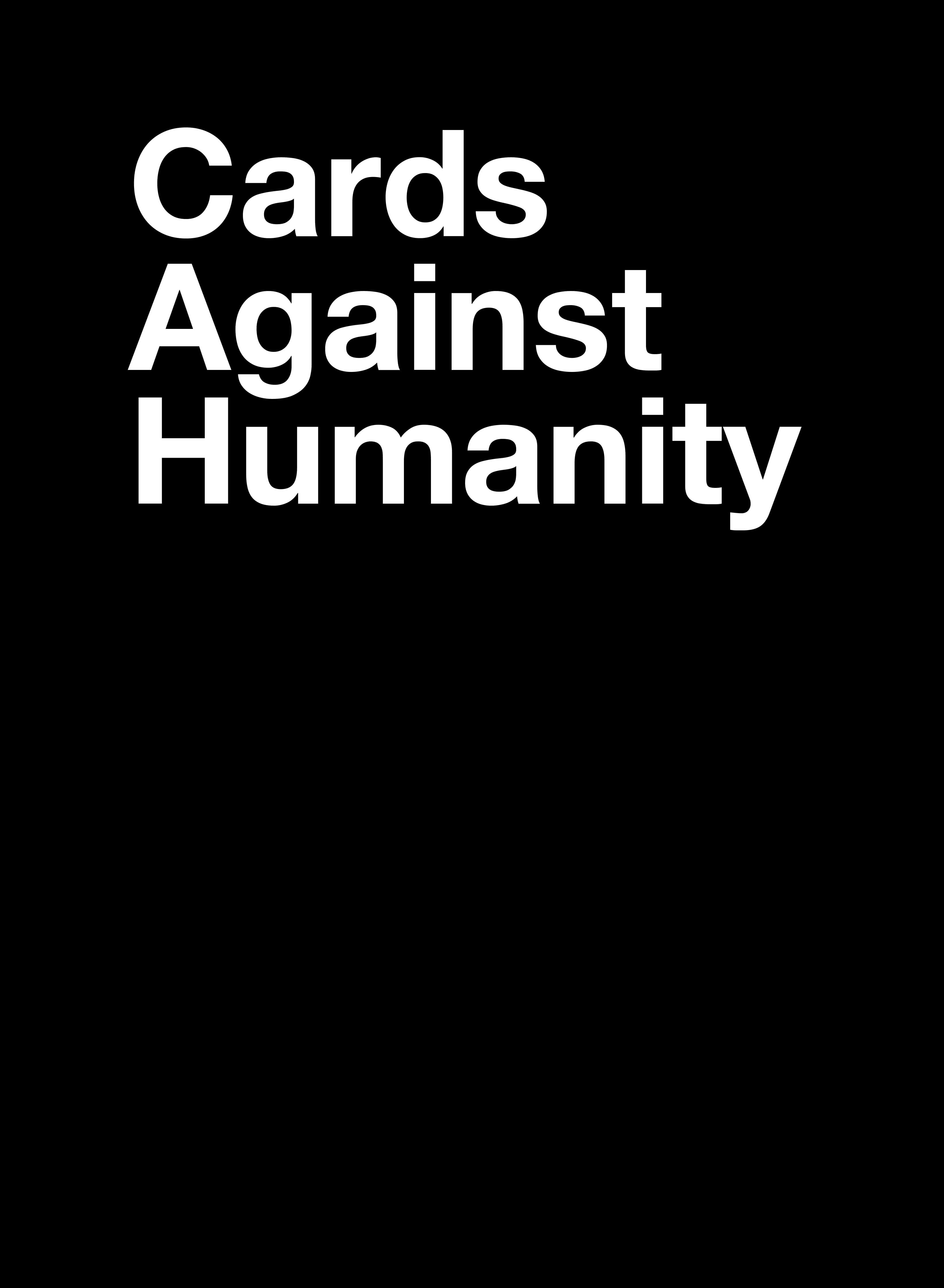 Cards Against Humanity - Card Generator Within Cards Against Humanity Template
