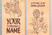 Cards Image Woman Rose Templates Creating Business Cards pertaining to Advertising Cards Templates
