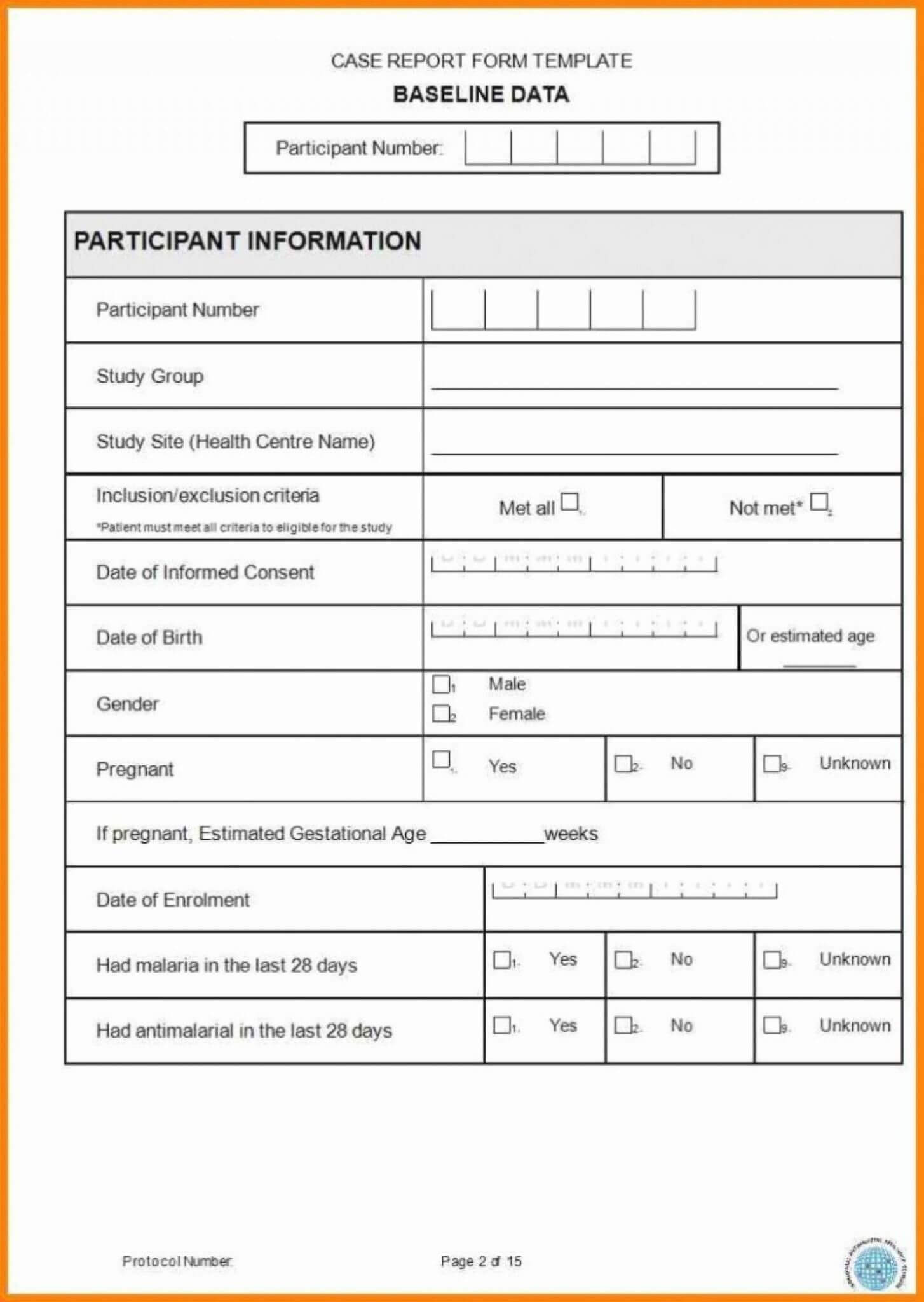 Case Report Form Template Unique Catering Resume Clinical Regarding Trial Report Template