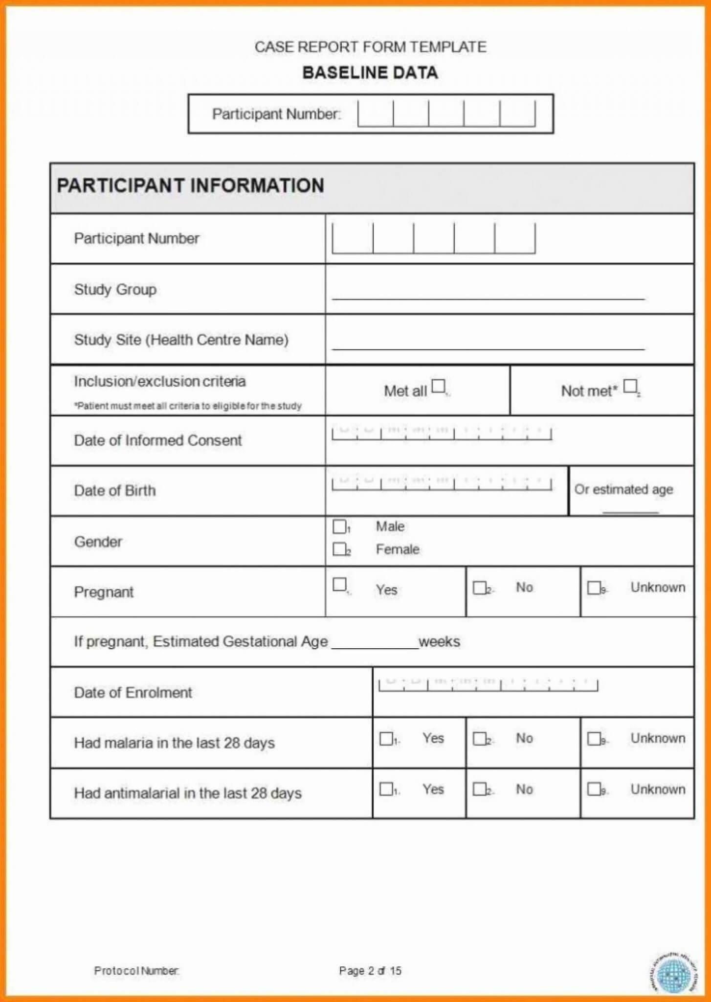 Case Report Form Template Unique Catering Resume Clinical Throughout Case Report Form Template Clinical Trials