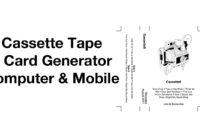 Cassette Tape J Card Template Generator Easy Mixtape Maker throughout Cassette J Card Template