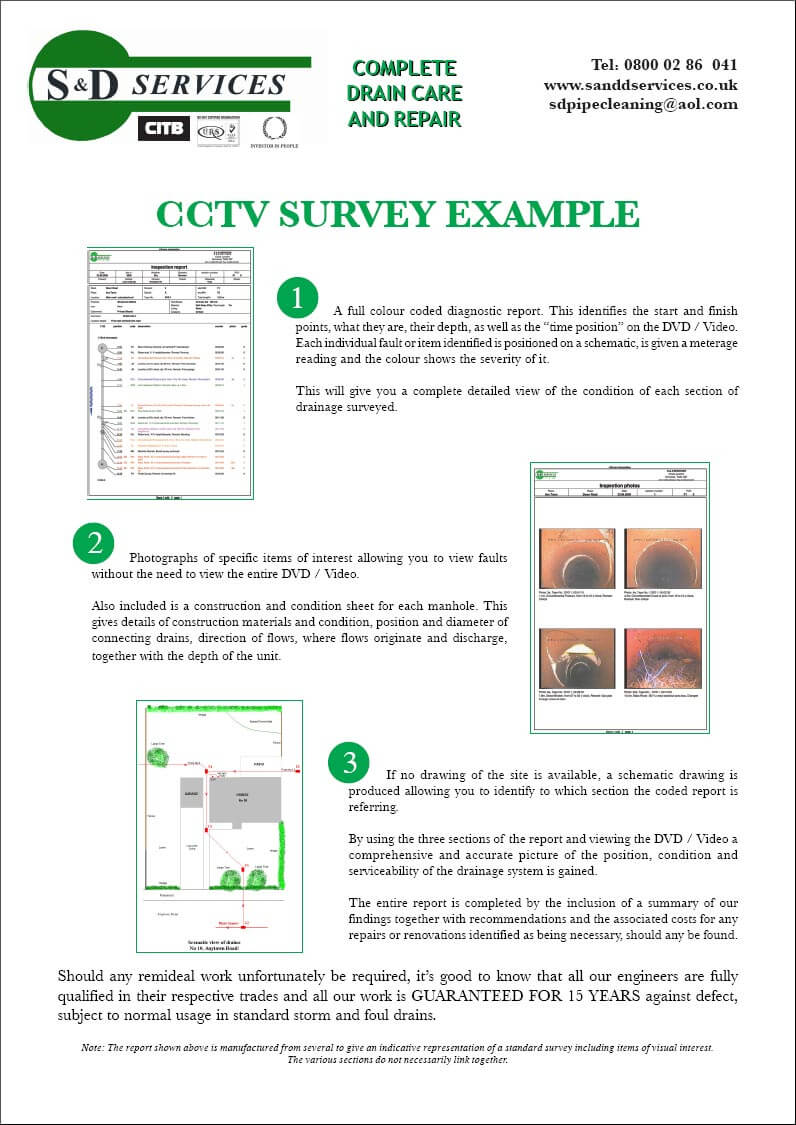 Cctv Surveying - S & D Plumbing And Drainage, Somerset Within Drainage Report Template