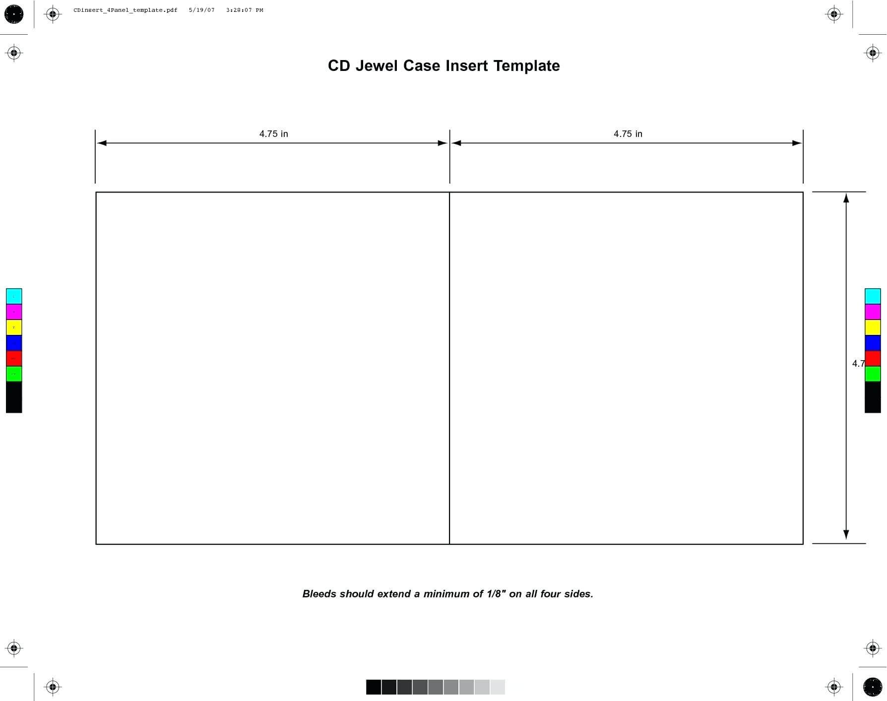 Cd Case Cover Template Word within Blank Cd Template Word
