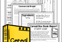 Cereal Box Book Report Kit | Shelly Rees Teaching Resources with Cereal Box Book Report Template