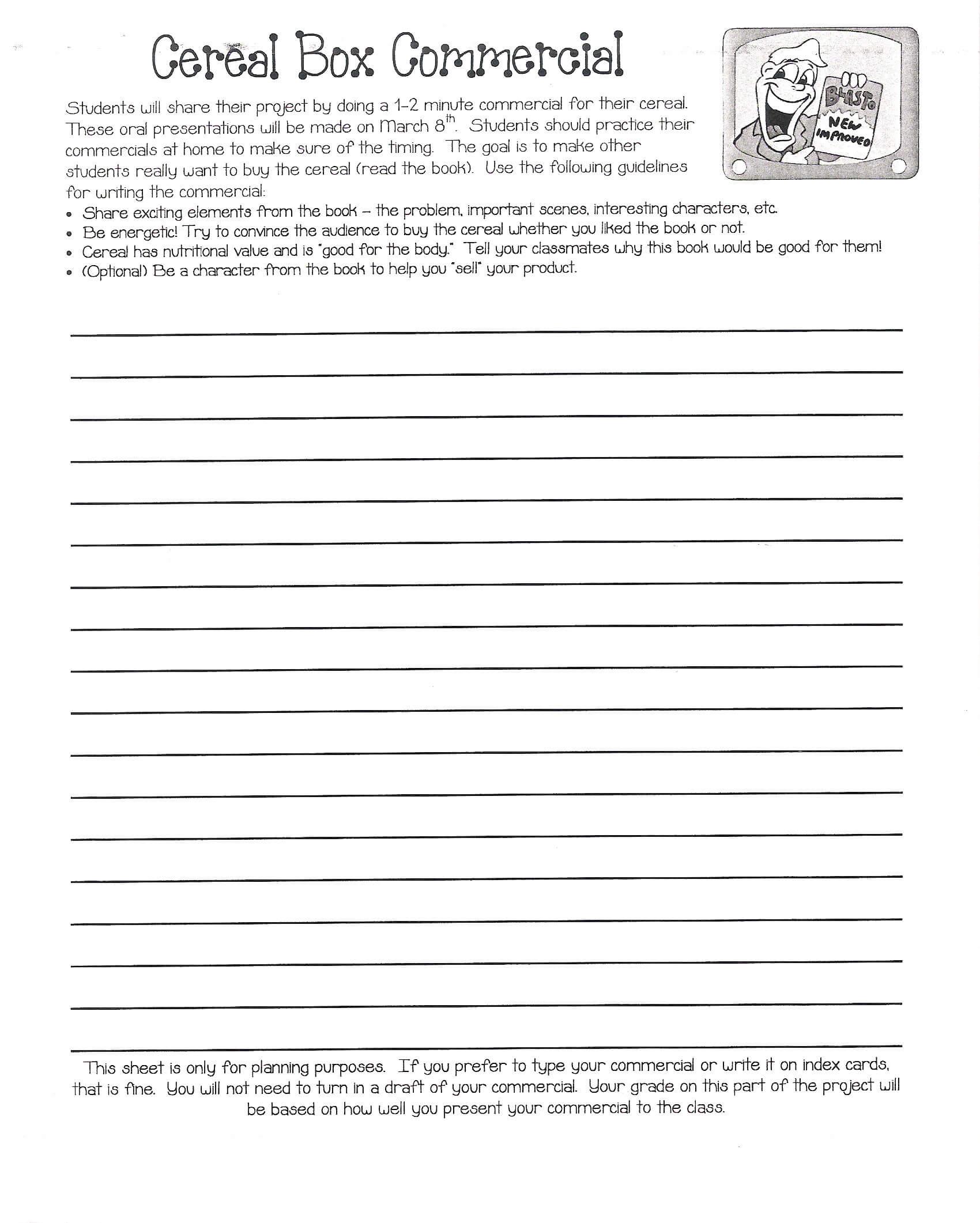 Cereal Box Book Report | Mrs. Eubanks' Class Intended For Cereal Box Book Report Template