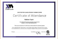 Certificate Attendance Templatec Certification Letter inside Perfect Attendance Certificate Free Template