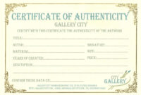 Certificate Authenticity Template Art Sample Blank Birth throughout Editable Birth Certificate Template