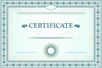Certificate Borders, Template And Design Elements with Certificate Border Design Templates
