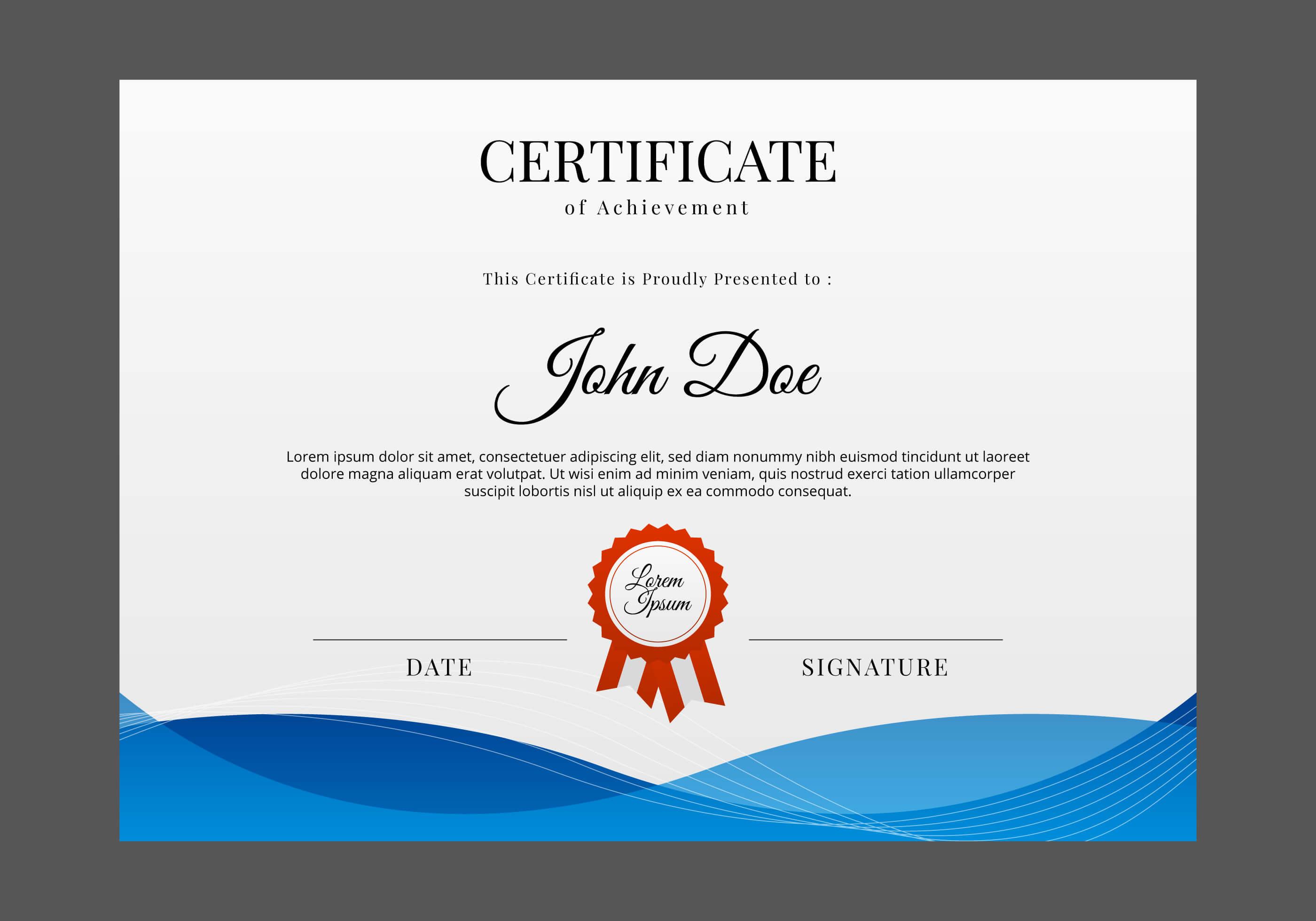 Certificate Design Free Vector Art - (10,209 Free Downloads) inside Design A Certificate Template