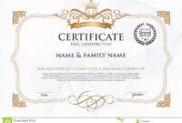 Certificate Design Template. Stock Vector – Illustration Of with Award Certificate Design Template