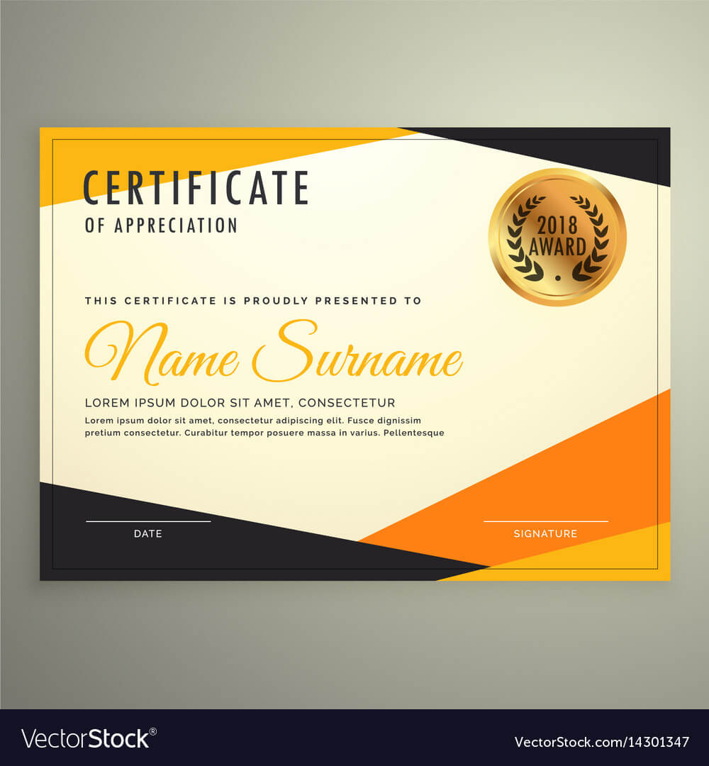 Certificate Design Template With Clean Modern regarding Design A Certificate Template