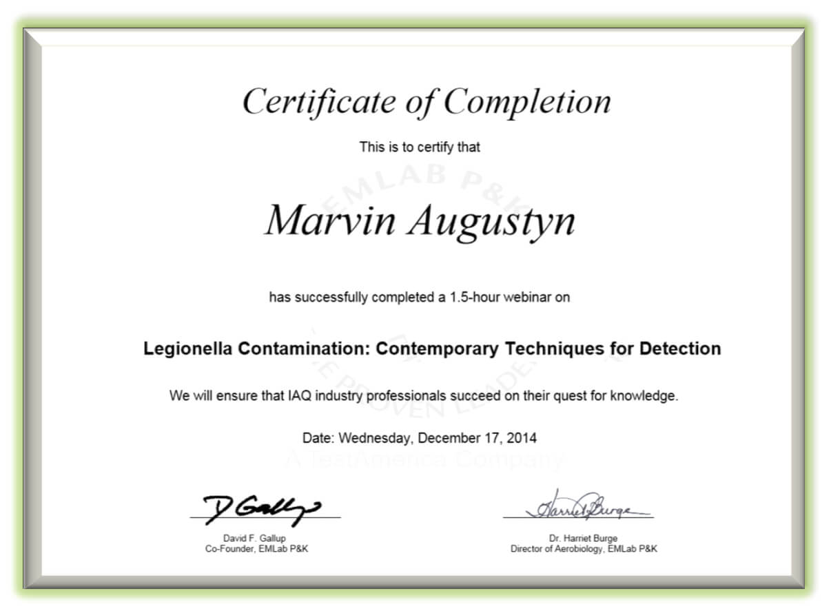 Certificate Examples - Simplecert with regard to Continuing Education Certificate Template