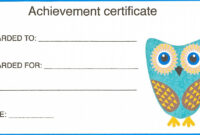 Certificate For Kid Template – Certificate Templates with Certificate Of Achievement Template For Kids