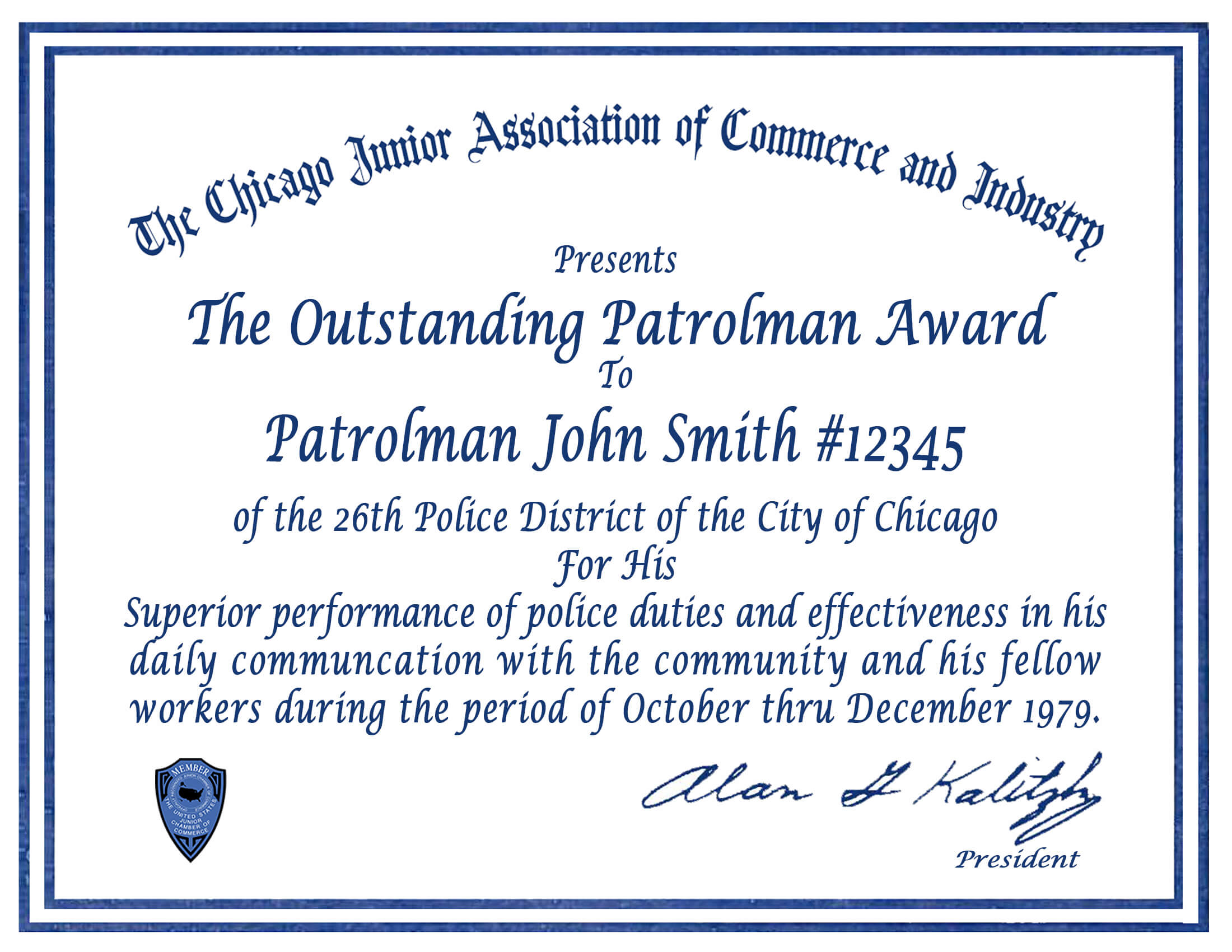 Certificate & Letter Awards | Chicagocop With Regard To Life for Life Saving Award Certificate Template
