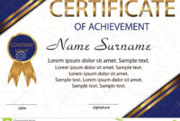Certificate Of Achievement Or Diploma. Elegant Light for Certificate Of Attainment Template