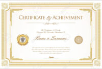 Certificate Of Achievement Or Diploma Template inside Commemorative Certificate Template