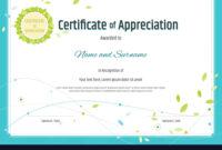 Certificate Of Appreciation Template Nature Theme inside Free Certificate Of Appreciation Template Downloads