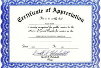 Certificate Of Appreciation Template – The Certificate Has A with Certificate For Years Of Service Template
