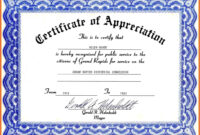 Certificate Of Appreciation Template Word Letter Sample 2010 with regard to Certificate Of Appreciation Template Doc