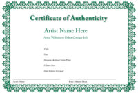 Certificate Of Authenticity Of An Art Print In 2019 | Art inside Certificate Of Authenticity Photography Template